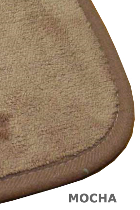 Mocha colored mat.