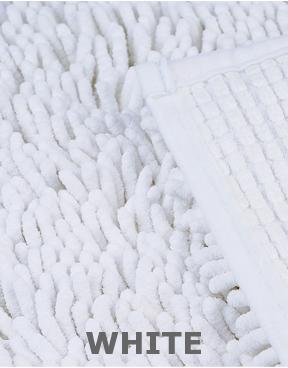 White version microfiber chenille.