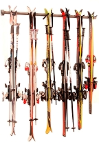 Six Pair Ski Storage Rack