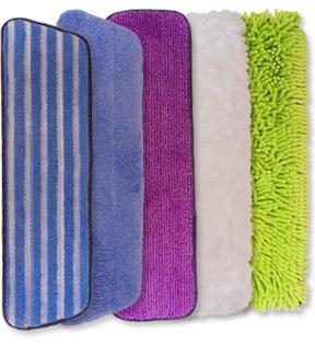 Microfiber mop pad variety package