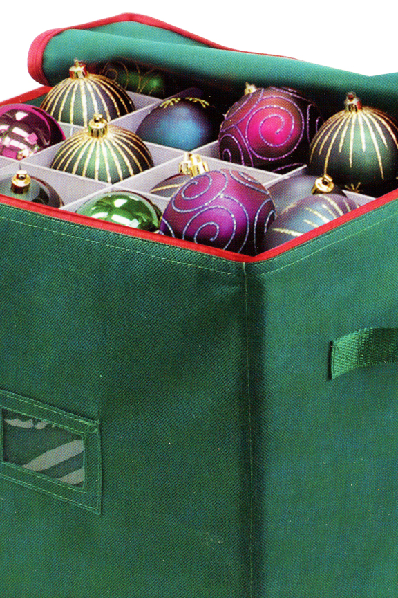 Store and protect up to 64 ornaments.