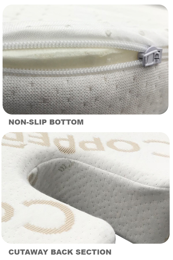 Product detail: Washable cover with zipper, and cutaway section for tailbone.