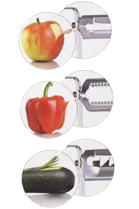 Get one type of peeler for each type of job.