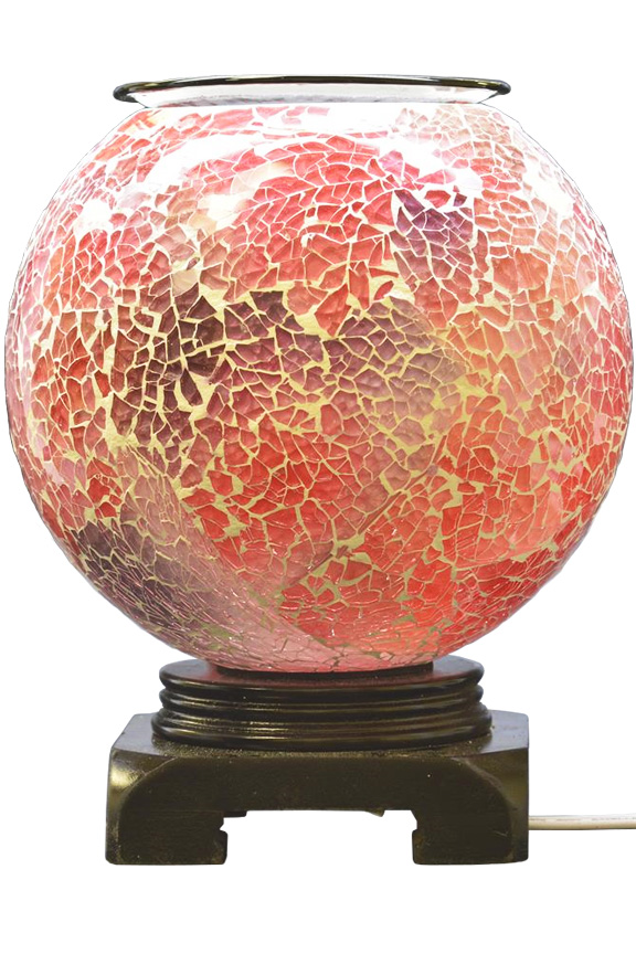 Pink Glass Mosaic Oil Warmer