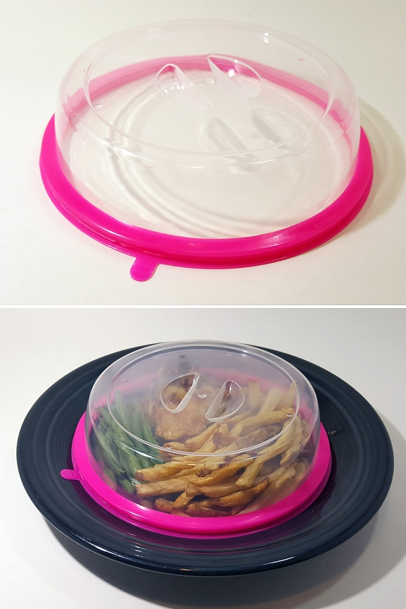 Handy pull tab allows you to quickly release suction, and remove lid.