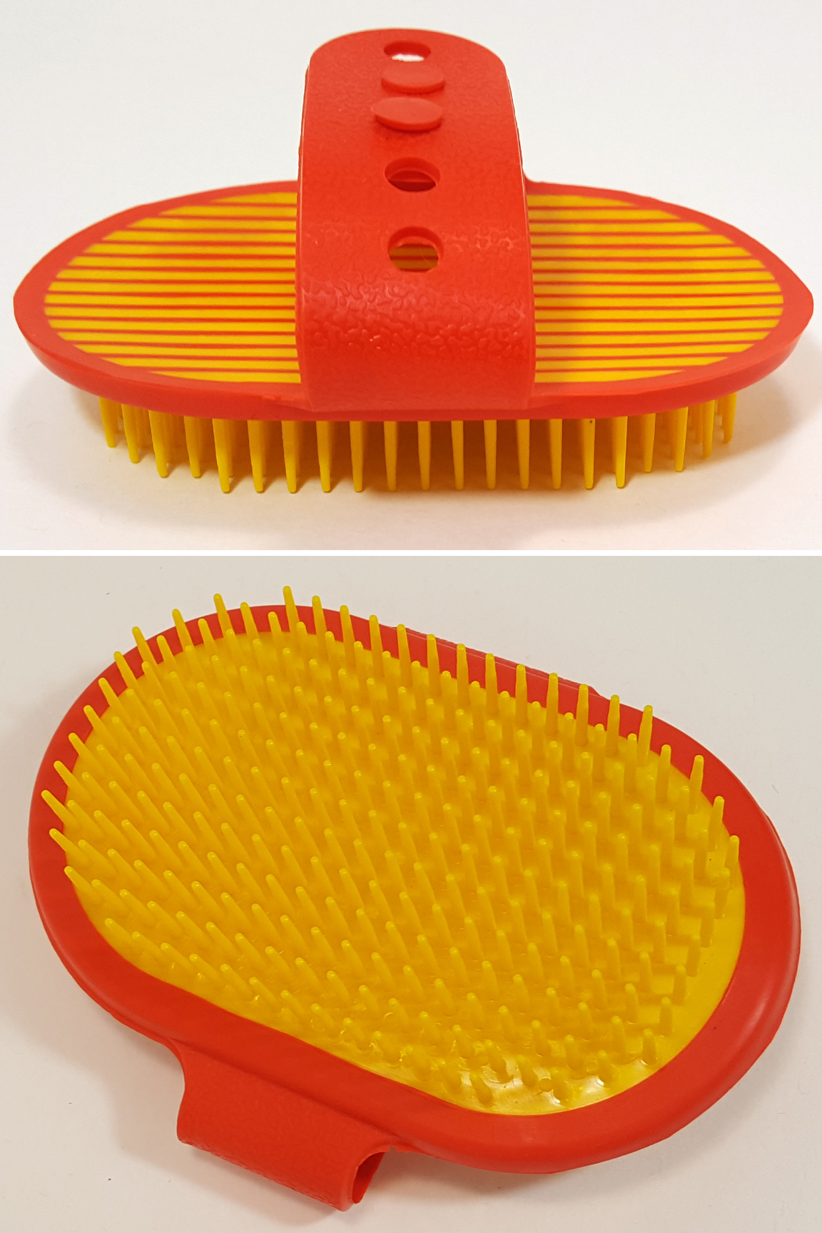 Palm Brush Detail: Front and back view.