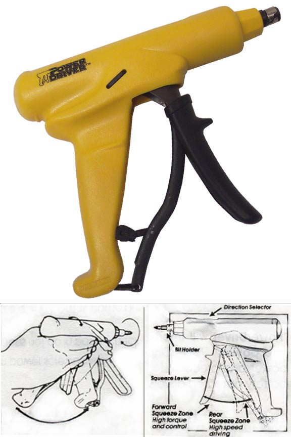 PowerDriver ratcheting screwdriver