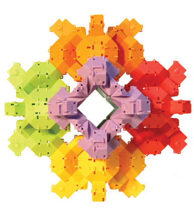 Bright colors and fun turtle shapes add to the appeal of these building blocks.