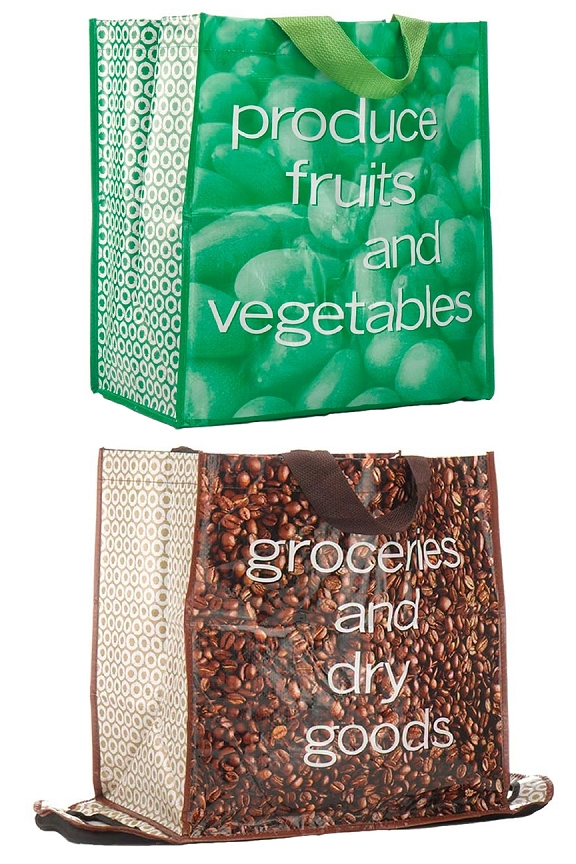 Non-porous produce bag, and extra large dry goods bag.