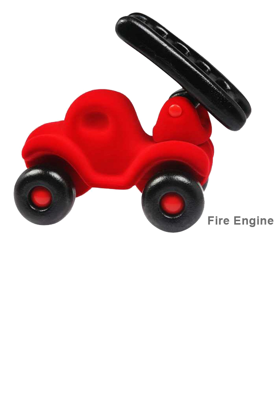 Soft toy trucks with moving parts. Fireman Rubba Engine.