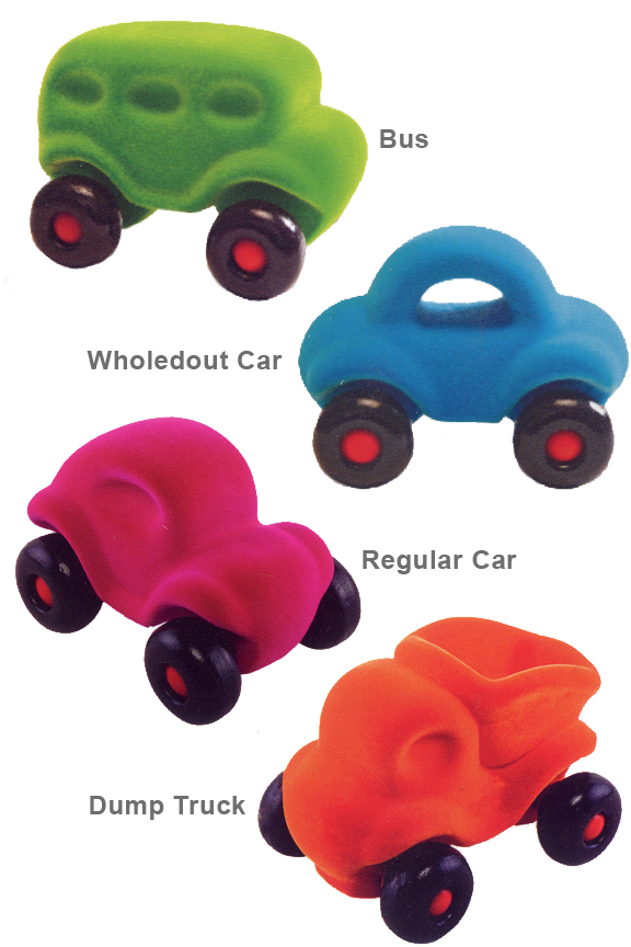 Little Rubbabu Vehicles - Small Toy Cars Made From Natural Rubber.