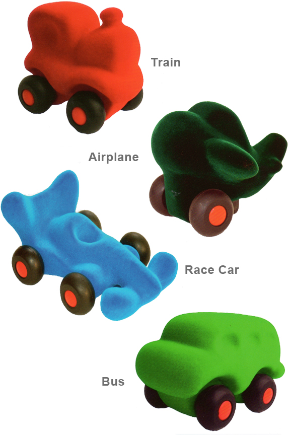 Micro Rubbabu Vehicles - Small Toy Cars Made From Natural Rubber.