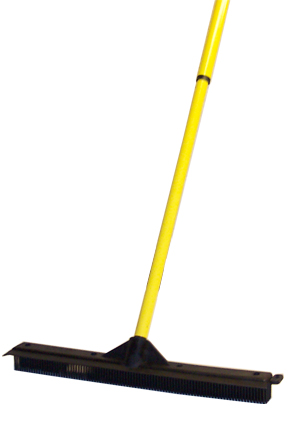 Large rubber broom head made from solid molded rubber.