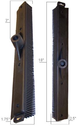 Broom head dimensions.