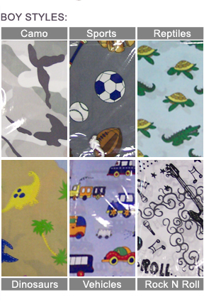Boy Bed Sheet Styles: Camouflage, Sports, Reptiles, Dinosaurs, Vehicles or Rock n Roll