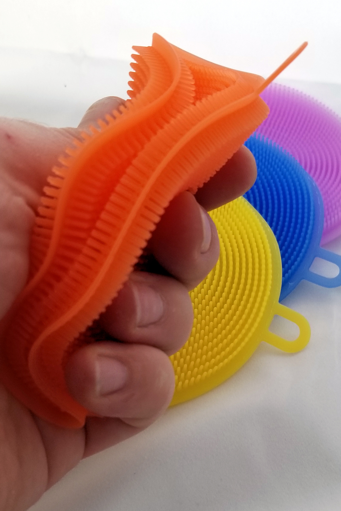 Super flexible and able to hold water and soap like a regular sponge.