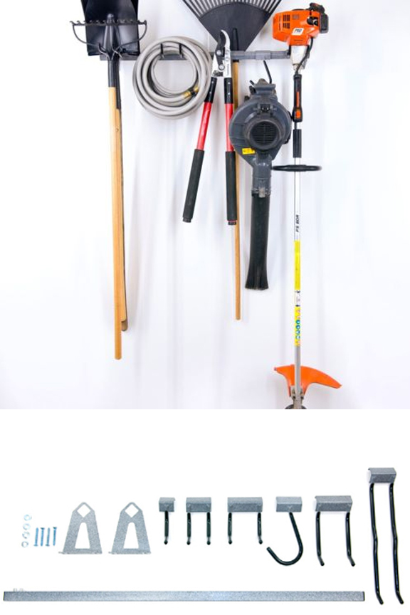 Parts included. Small yard tool Rack.