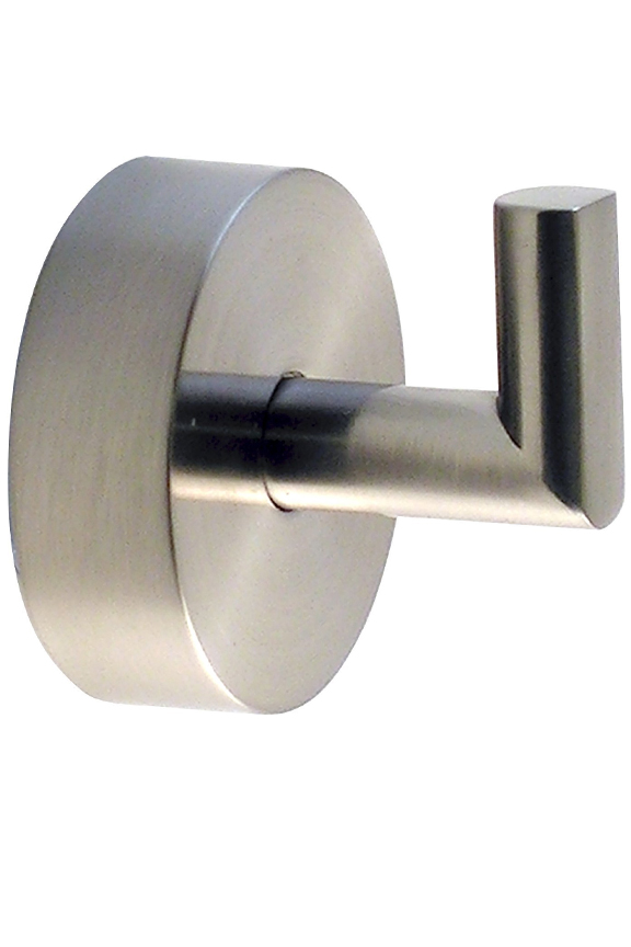Brushed stainless steel finish to match existing fixtures and decor.