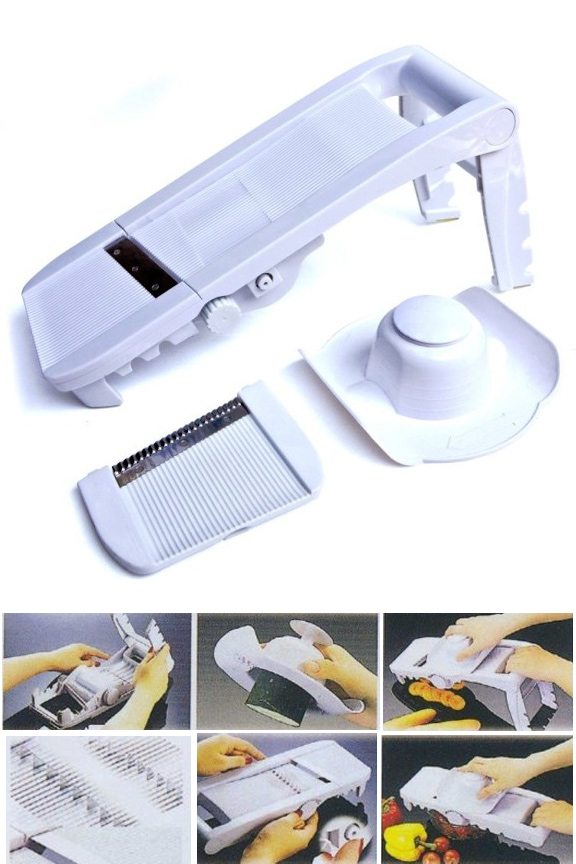 Super Mandoline Slicer With Waffle Attachment