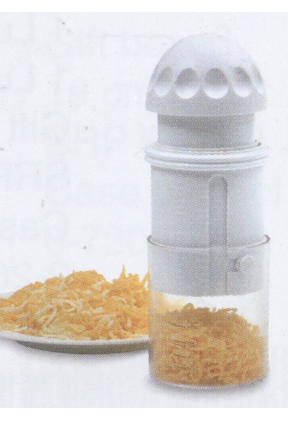 A compact and convenient way to grate your food.