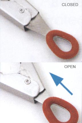 Locking mechanism doubles as storage hook.