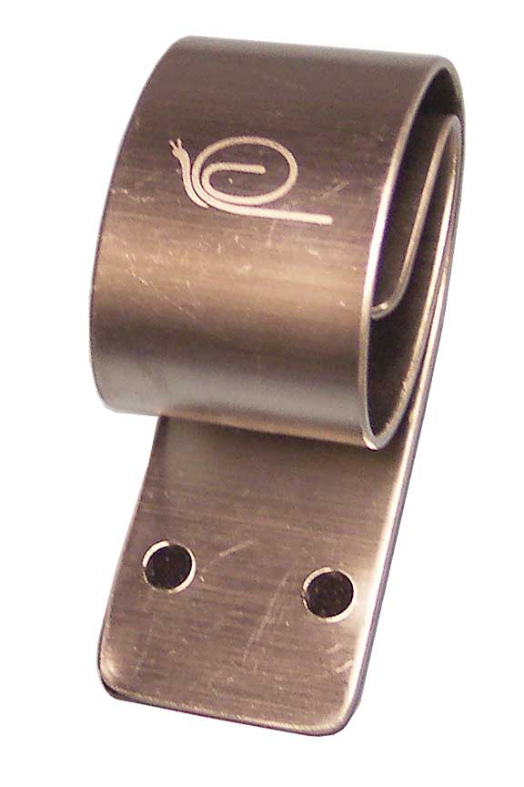 Patented, stainless steel towel hook. No more towels on the floor.