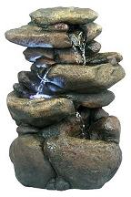 Three Tier River Rock Fountain