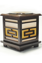 Geometric Wood Oil Warmer
