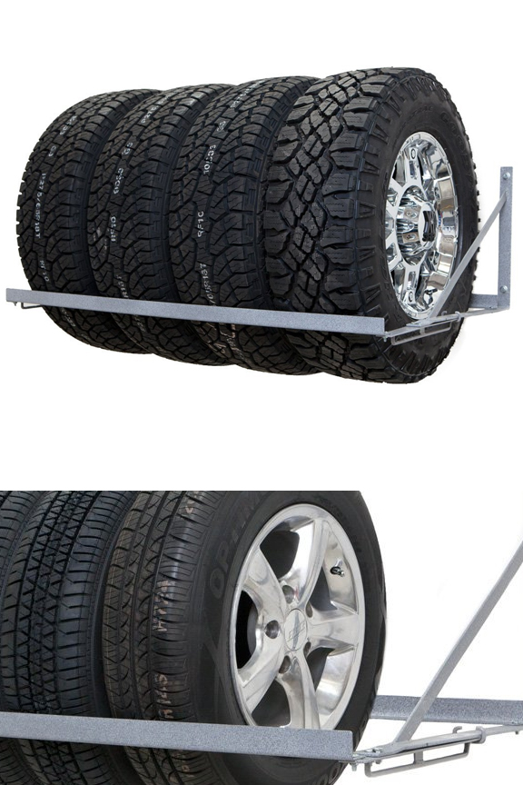Wall Mounted Tire Rack