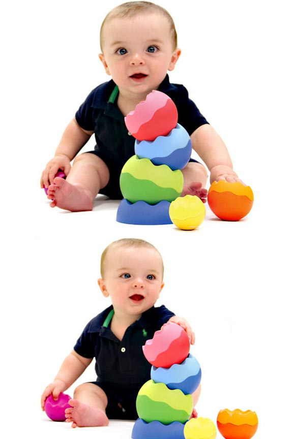 Tip, spin, nest stack, roll and more. Hours of fun for babies, toddlers and even older kids.