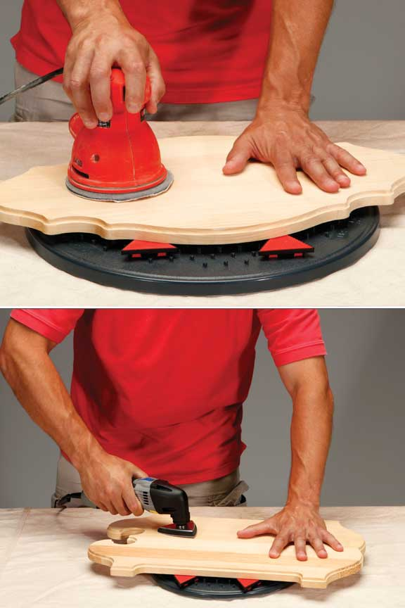 Included grabbers will hold on tight in order to make sanding and other tasks easy.