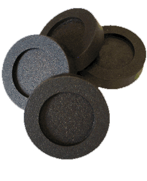 Includes four durable pads made from recycled rubber.