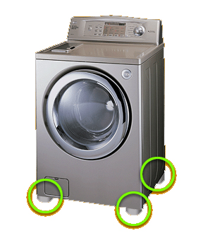 Place one at each corner to stop vibration and eliminate noise.