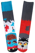 Mens Zombie Vs. Werewolf Socks
