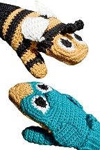 Children's Bird Vs. Bee Mittens