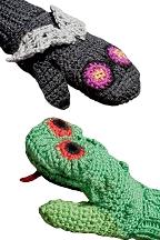 Children's Frog Vs. Fly Mittens