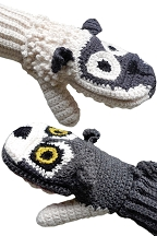 Adult Wolf Vs. Sheep Mittens