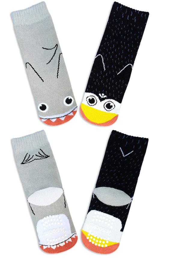 Product Detail. Shark and Penguin Socks.
