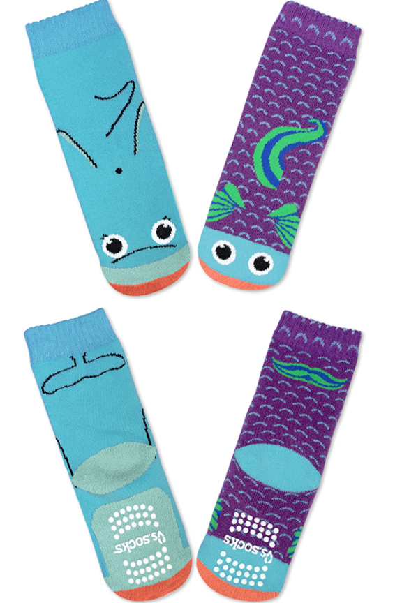 Product Detail. Fish and Dolphin Socks.