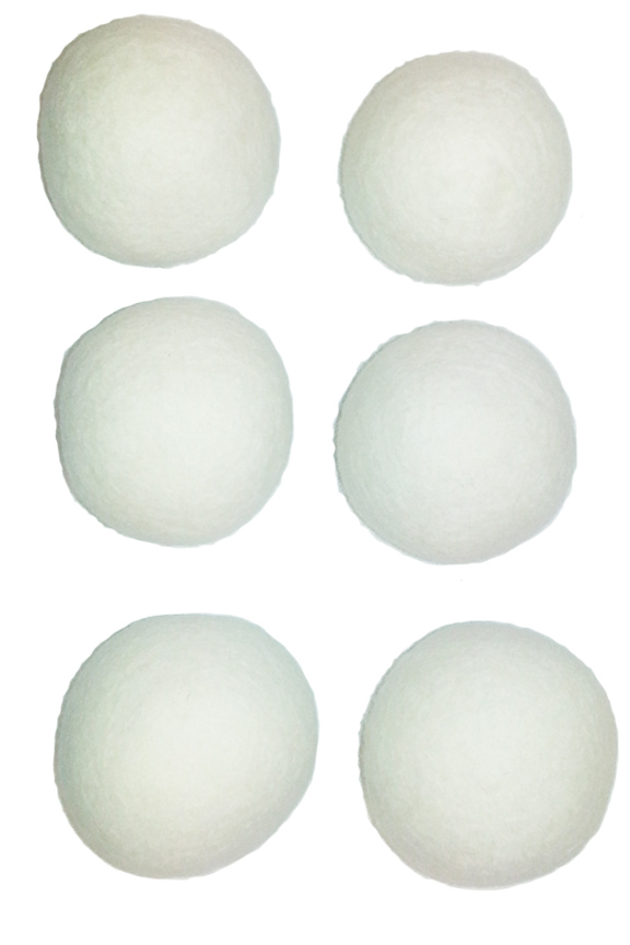Six balls for use with any size load.