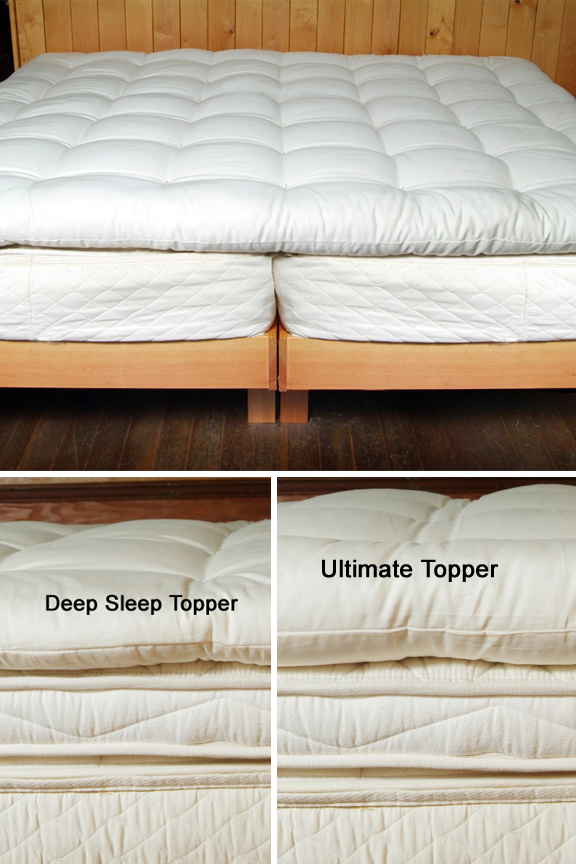 Quilted Wool Mattress Topper