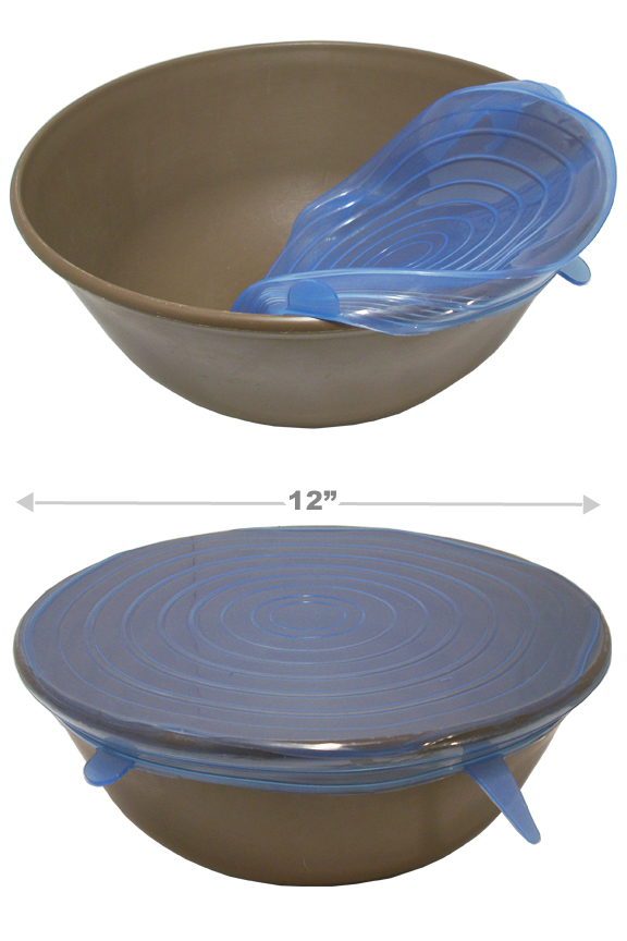 Stretch to cover large bowls up to 12 inches in diameter,