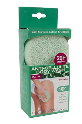 Fresh Aloe Anti-Cellulite Body Wash In A Sponge by Spongeables 20+