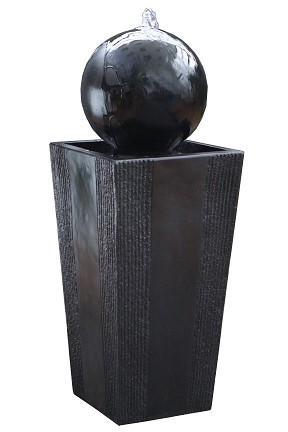 GIL786 Black Ball Fountain With LED Lights