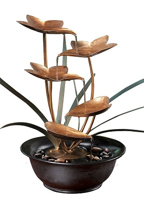 Tiered Metal Leaf Fountain