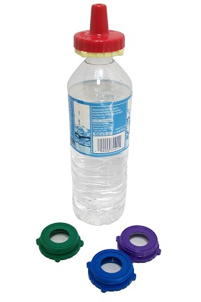 Spill proof lid set for water and juice bottles
