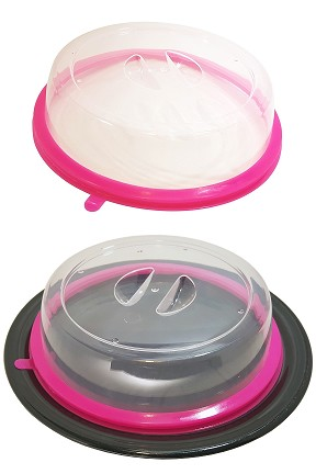 Plate Topper - A storage lid that suctions to any plate.