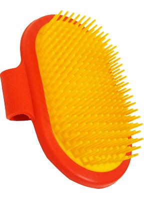 Power Palm Stiff Bristle Curry Brush