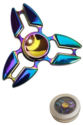 Rainbow Metal Alloy Fidget Spinner