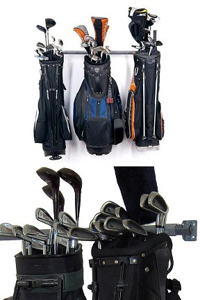 Small Golf Bag Storage Rack